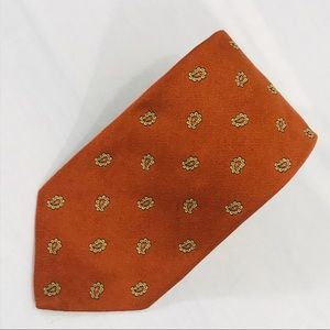 Brooks Brothers Orange with Gold Paisleys Tie
